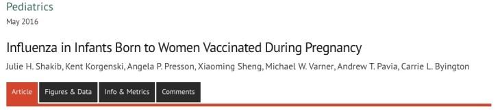 вакцинация, грипп, беременность, Pediatrics