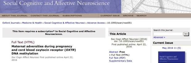стресс, дети, Social Cognitive and Affective Neuroscience