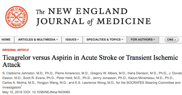 инсульт, транзиторная ишемическая атака, New England Journal of Medicine