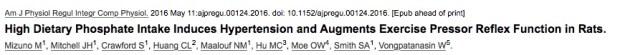 фосфаты, гипертония, American Journal of Physiology-Regulatory