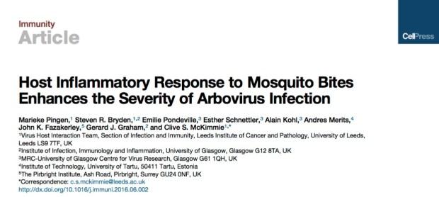 комар, Immunity