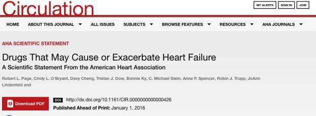 сердечная недостаточность, Circulation