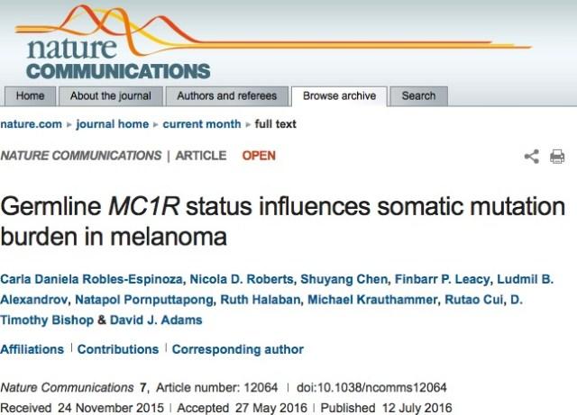 рак кожи, Nature Communications