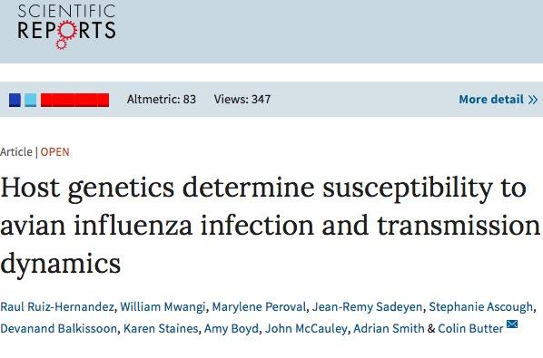 грипп, Scientific Reports