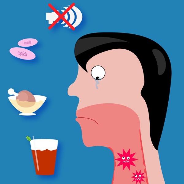 боль в горле, диета