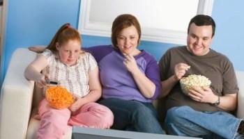 телевизор, еда, ожирение