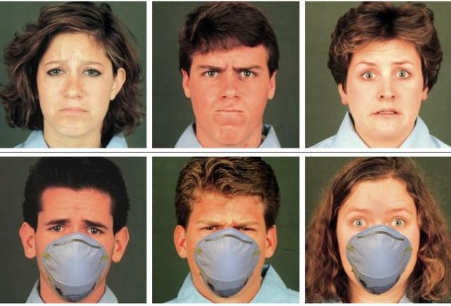 Ношение масок на лицах взрослых не скроет их эмоции от детей