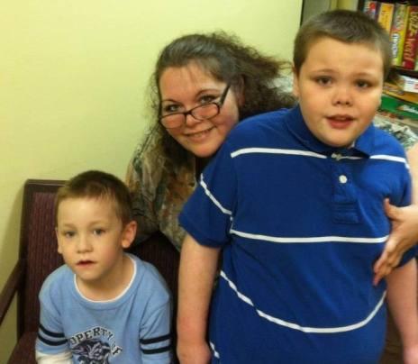 Dawn Cullins with boys