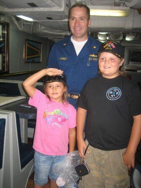 Kids on USS Cole