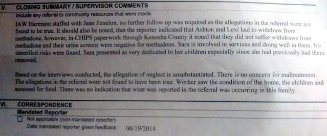 6.9.14 Allegations Not True CPS