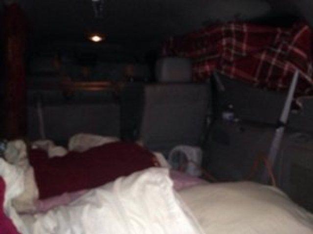 Leiani mom slept in truck