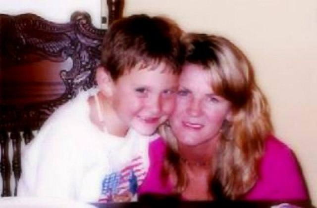 Mitchell young Samuel with mom