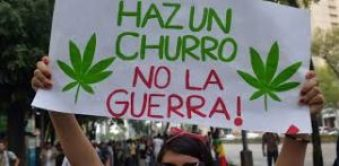 Mexican cannabis protestor