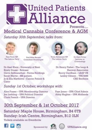 Poster for United Patient's Alliance AGM