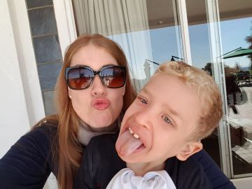 Costello Syndrome child patient and mother