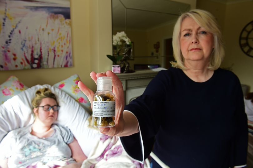 cancer patients and mother with cannabis pills