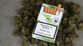 CBD cigarettes with marijuana cigarettes