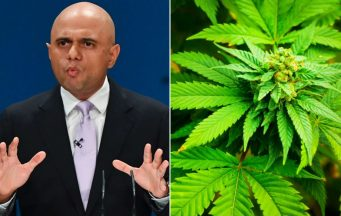 Home Secretary Sajid Javid cannabis
