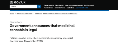 British Government lies about medical cannabis