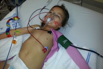 Australian epileptic child in hospital