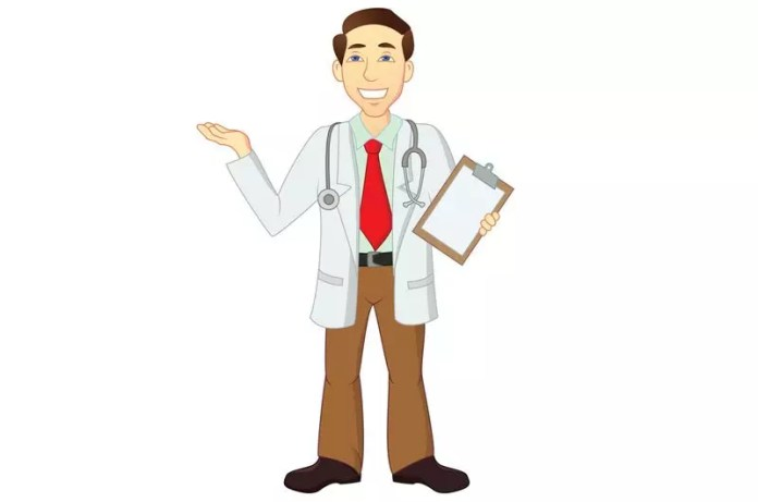 medical humor doctor with chart - Physician