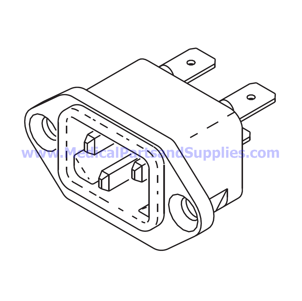 Ac Inlet Receptacle For The Tuttnauer Ez10 Part Rpr583 Oem Part