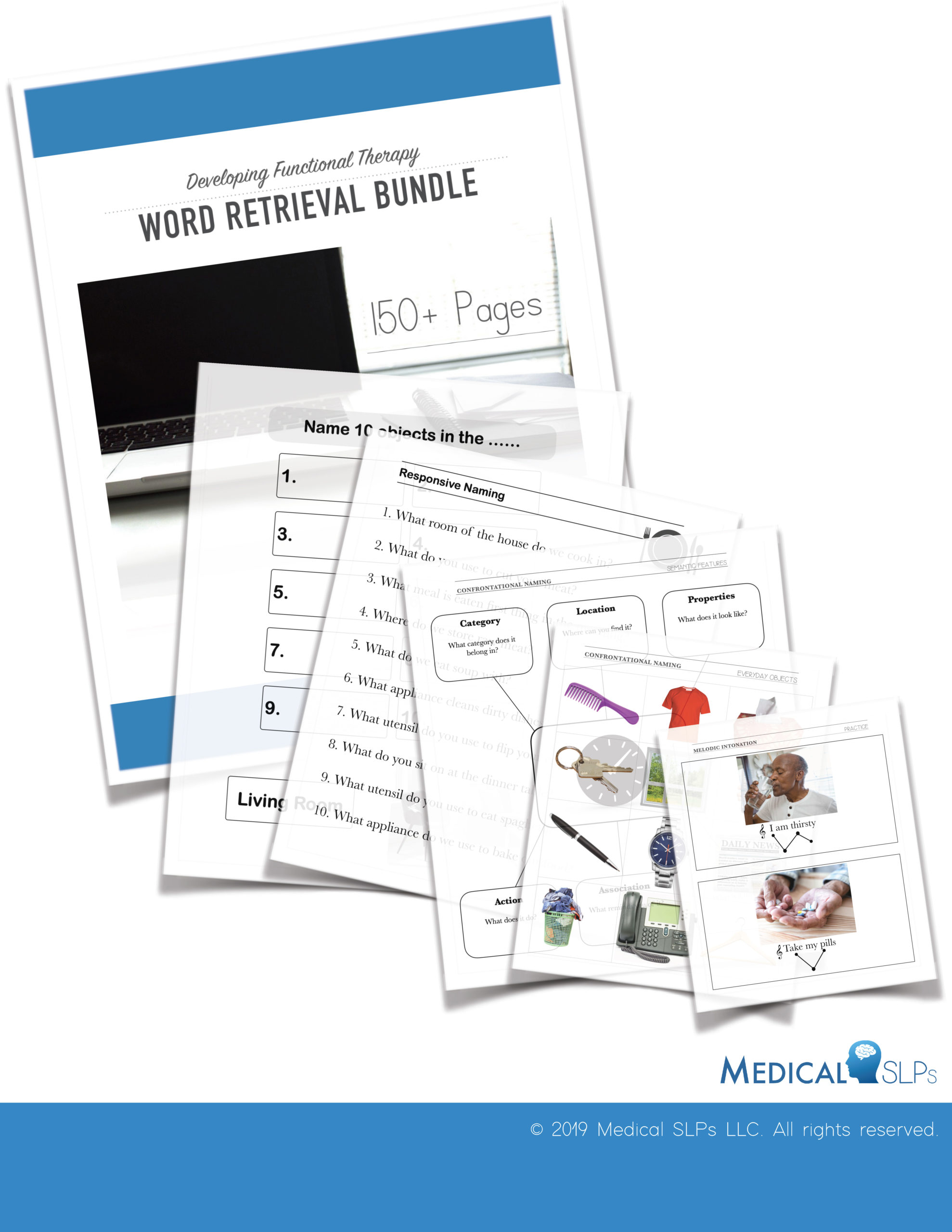Word Retrieval Worksheets Bundle