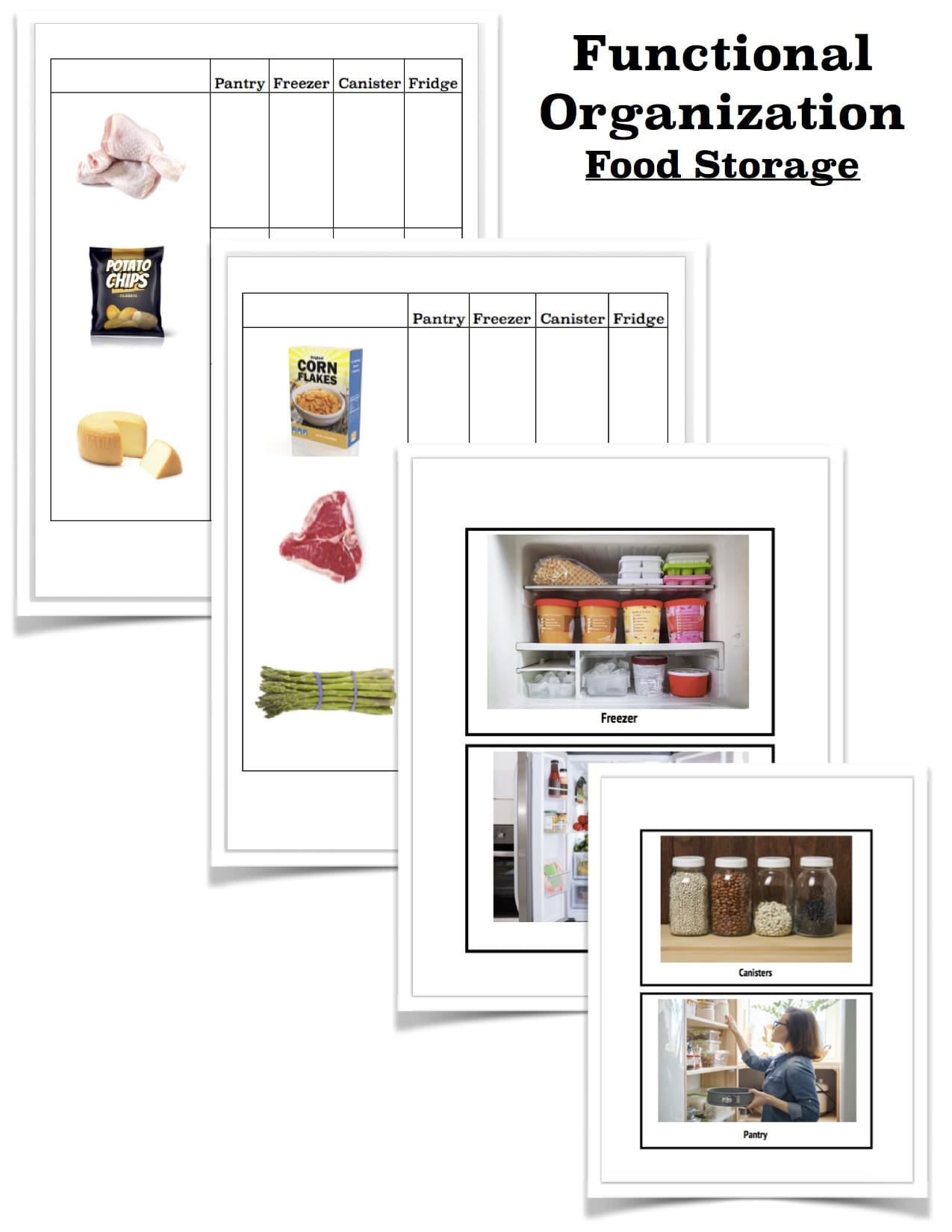 Organization Tasks Food Storage