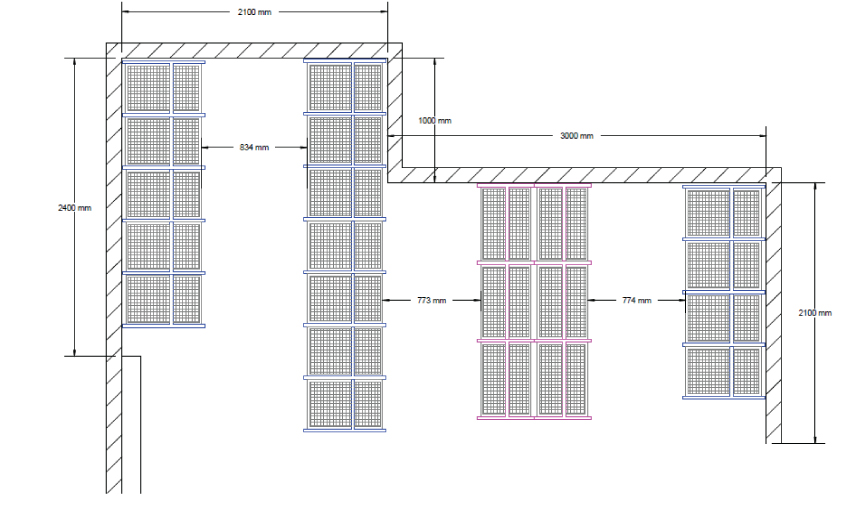CAD DRAWING OF HOSPITAL STORE ROOM