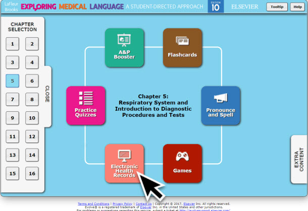 LaFleur Medical Terminology Online Resources Electronic Health Records