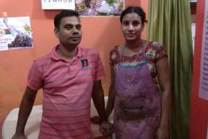 Owners of Srusthi's canteen in Benaulim, Goa