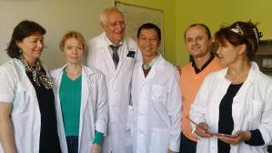 Dr.Chanrda Irawan and Russian Professor Oleg Maslennikov and his colleagues - image courtesy of Bali Ozone Clinic