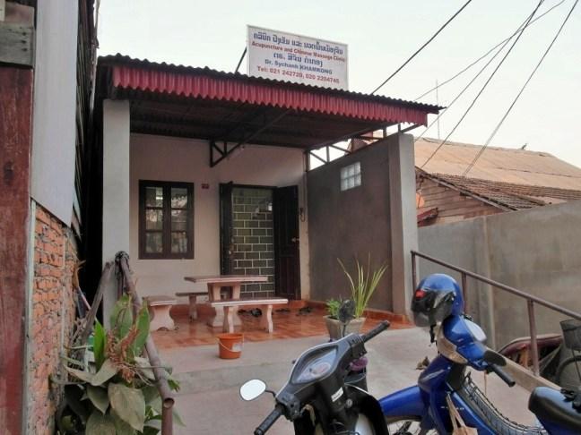 Dr. Sychanh Khamkong's acupuncture clinic, Vientiane, Laos