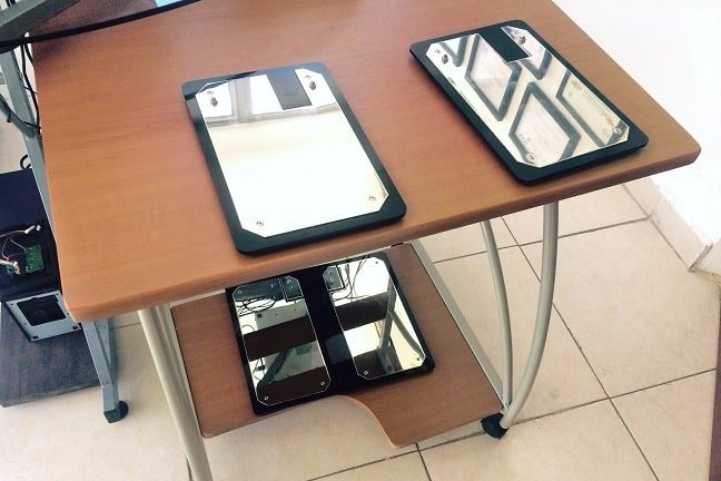 ES-Teck scanner plates at Sana clinic, Playa del Carmen, Mexico