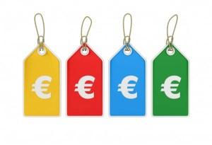 étiquette prix euros