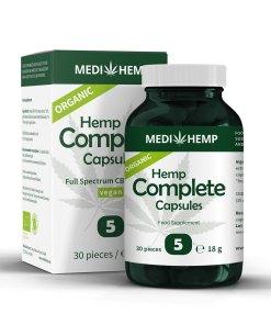 MedihempOrganic Hemp Complete 5% CBD olej v kapslích, 750mg, 30ks tobolek