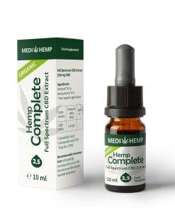 MedihempOrganic Hemp Complete 2,5% CBD olej, 250mg