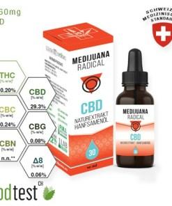 Medijuana30% CBD olej Radical, 2760mg