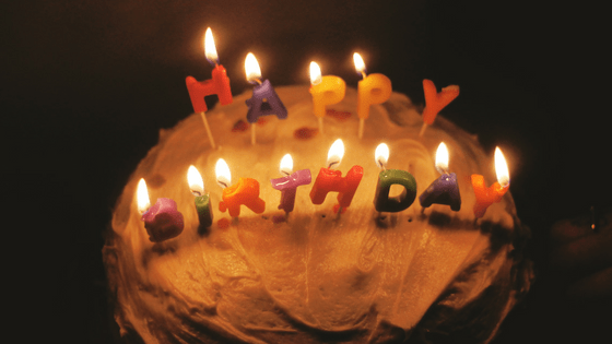 Image of birthday candles because you're turning 65