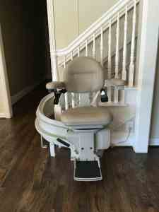 """image of a stair lift for article, """"Will Medicare Pay for my Stair Lift""""?"""