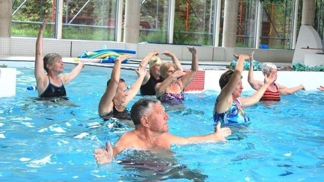 Senior in Swimming Pool
