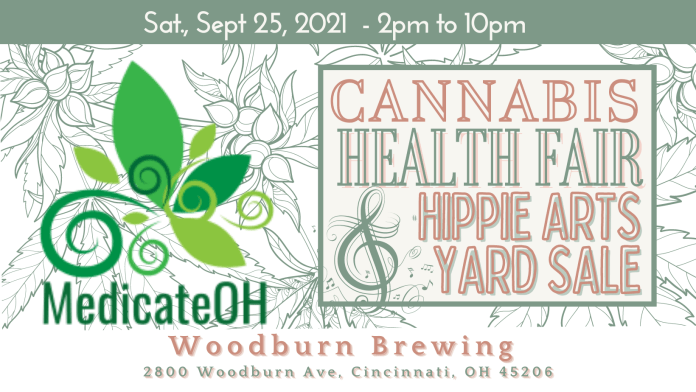 Ohio CBD Guy and Woodburn Brewing in Cincinnati will co-host Medicate OH and Hippie Art Yard Sale for an event September 25.
