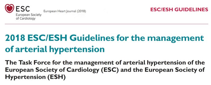 Guideline ESC - European Society of Cardiology