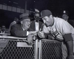 Branch Rickey and Carl Furillo