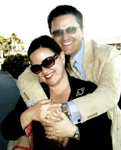 With wife Kasia