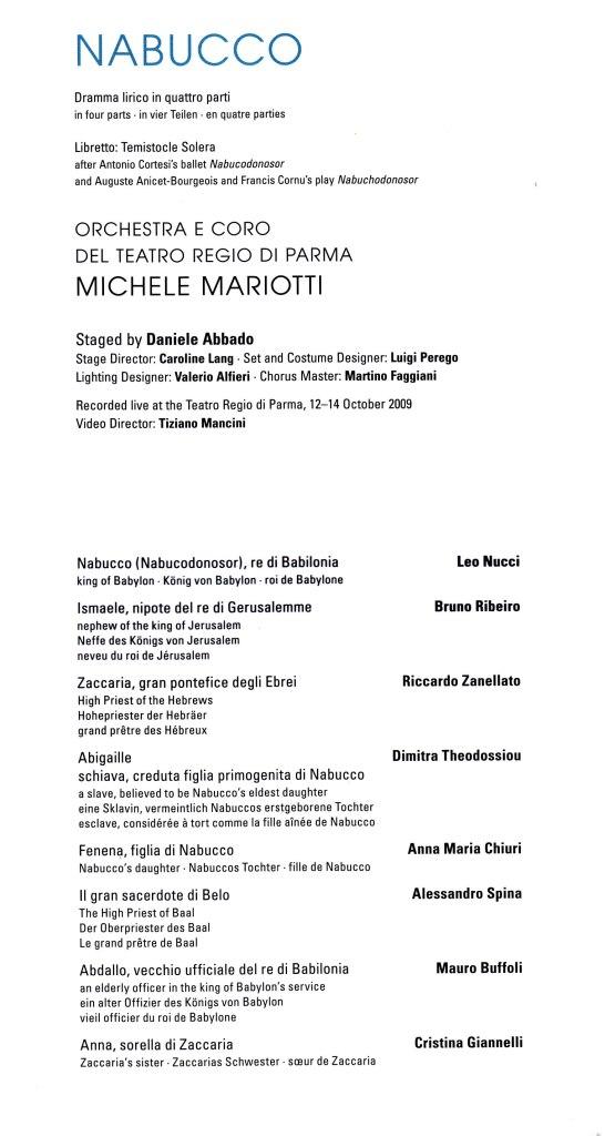 Nabucco - Parma