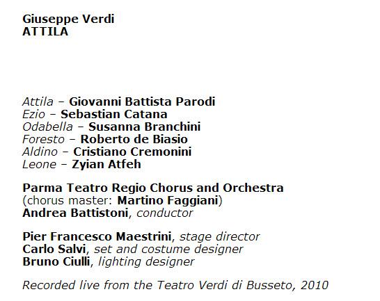 Verdi Attila Parma