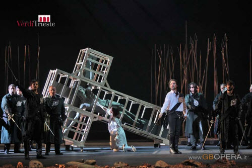 Act 3 scene 1 - the Lego cross