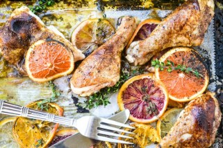 Roasted chicken with allspice and citrus from The View from Great Island