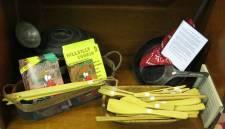 Wood utensils and cookbooks